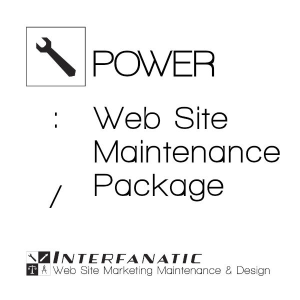 Interfanatic Power Website Maintenance Packaged Services
