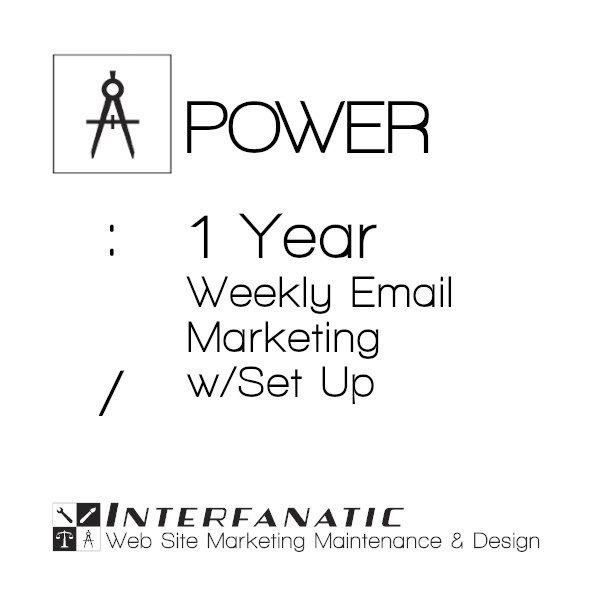 1 Year Interfanatic Power Weekly Email Marketing with Set Up