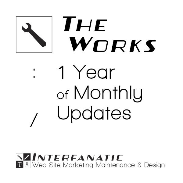 Interfanatic The Works Monthly Updates for 1 Year